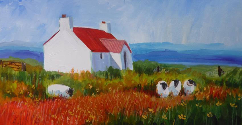 Ann Vastano Landscape Painting Scottish Highlands